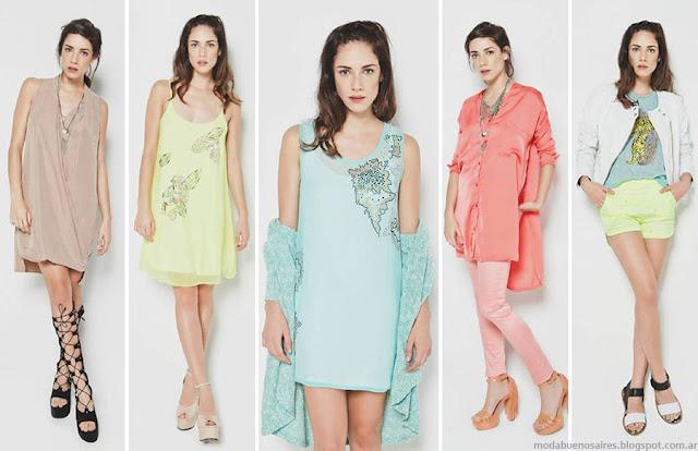 Moda primavera verano 2016 vestidos, shorts, remeras de mujer. La cofradia moda 2016.