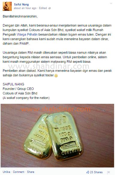 saiful nang terima emas