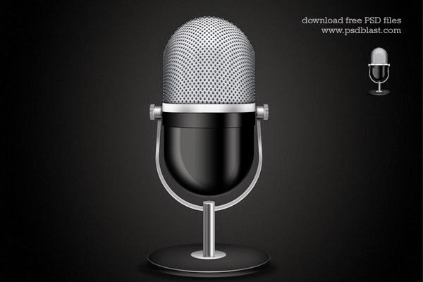 Microphone Icon PSD