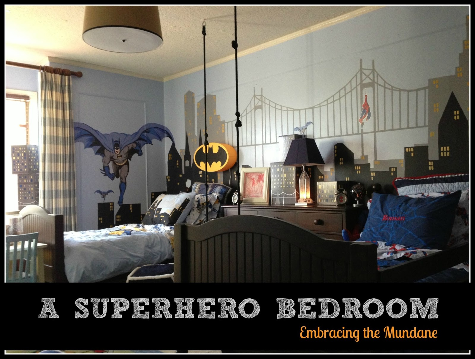 Superhero bedroom - My Two Little Boys Share A Room Which They Love To Do But It Needed To Be Updated To A Big Boy Room They Are Now 8 And 4 Have The Same