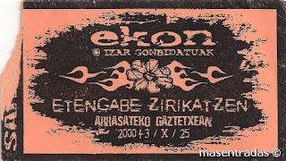 entrada de concierto de ekon