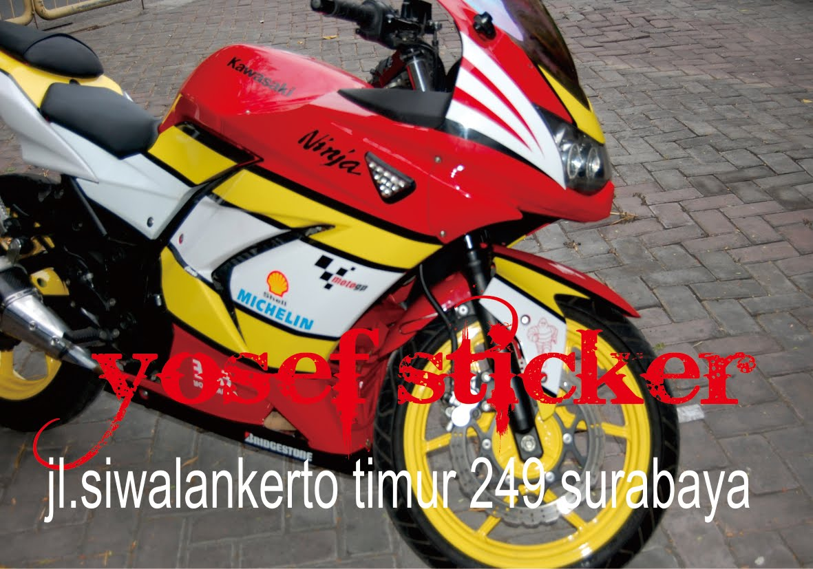 Cutting Sticker Ninja 250 Merah