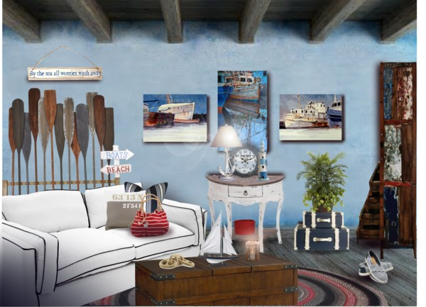 Lovely Nautical Themenautical Decor, Nautical Decorating Ideas, Wooden Oars