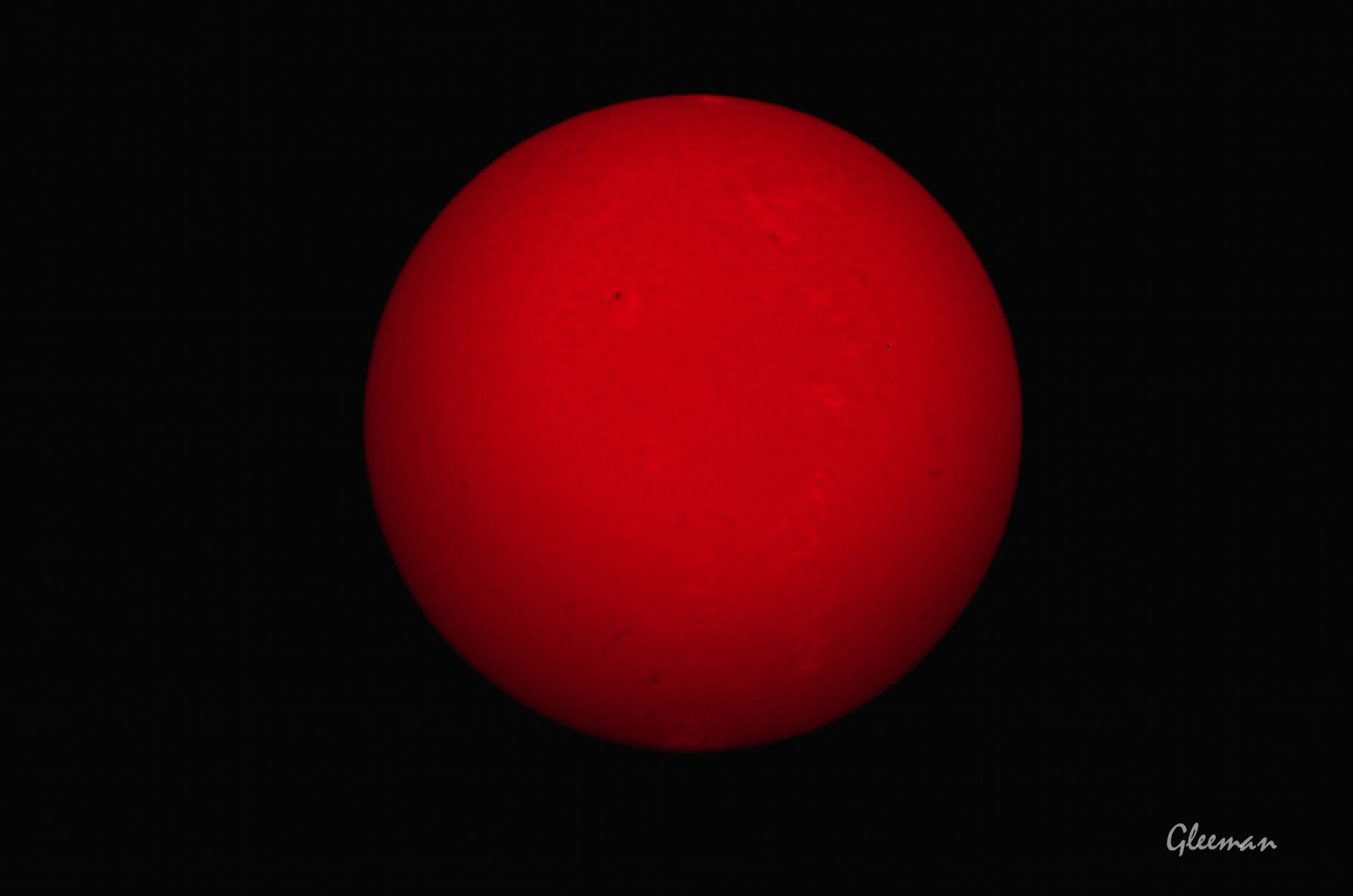 太陽 H-Alpha 擴大攝影, Pentax 75SDHF/Baader 8-24mm目鏡(設在20mm)/Pentax K5 Pentax MS-3赤道儀 SolarMax II 40 H-Alpha濾鏡