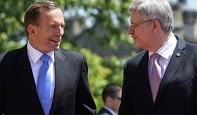 Tony Abbott & Stephen Harper.