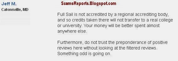 Full Sail University complaints