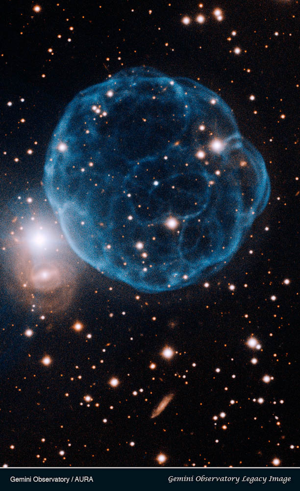 Gemini Observatory image of Kronberger 61 showing the ionized shell of ...