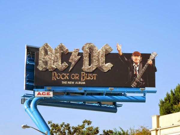 ACDC Rock or Bust album billboard