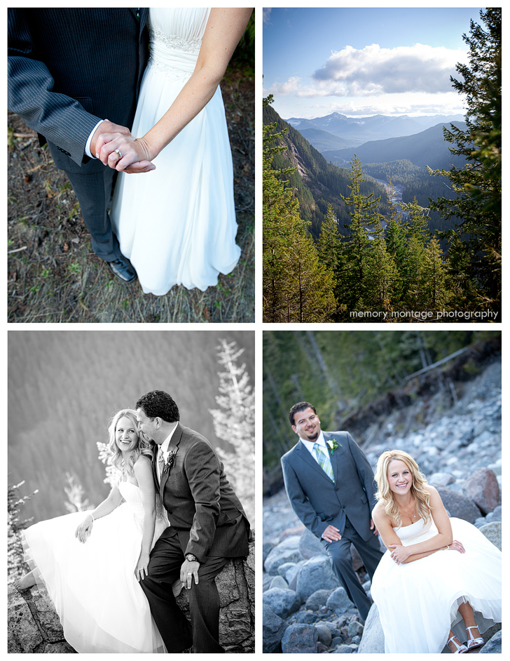 mt rainier copper creek wedding photo