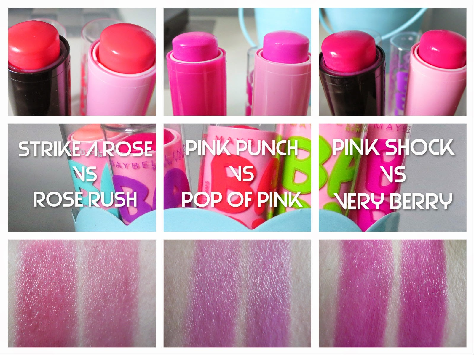 makeupwednesday maybelline baby lips pinked collection