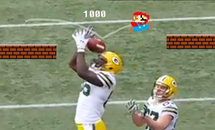 Super Mario. Brandon Bostick. #BrandonBostick #Packershaters #NotaCatch #SuperMario