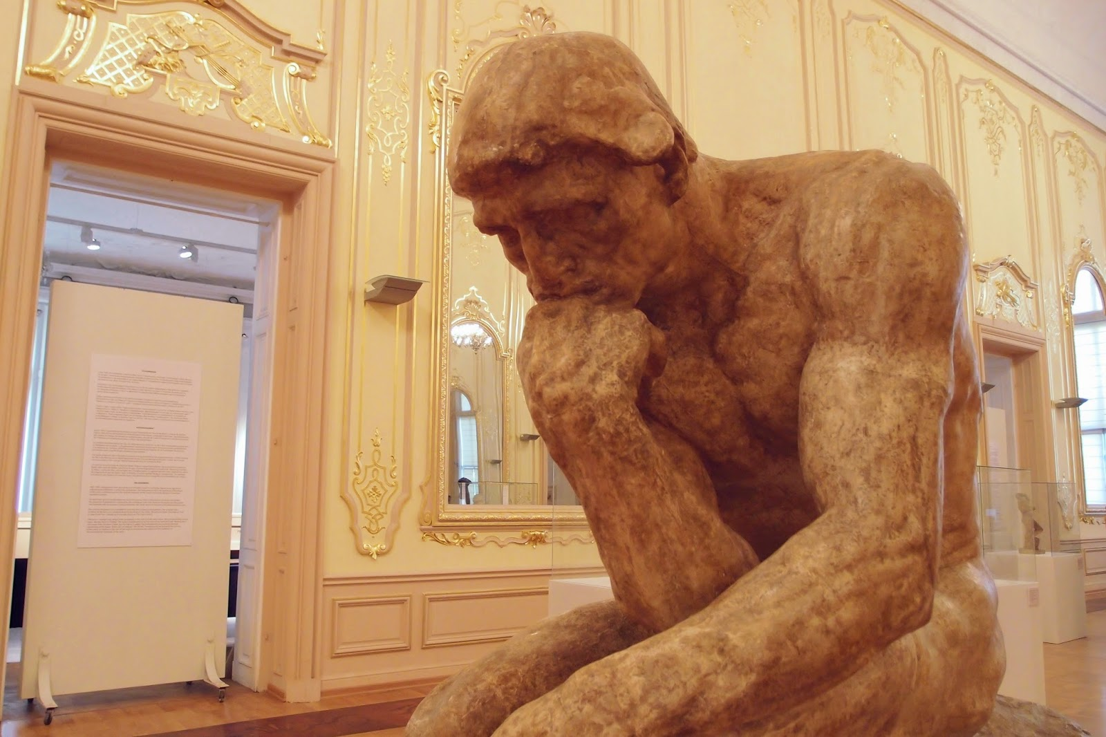 The Thinker - the center of Rodin's exhibition