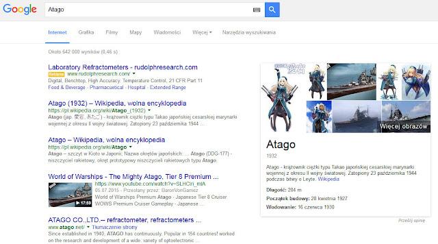 Atago w Google