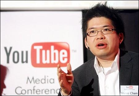 Steve Chen Orang yang mendirikan Youtube