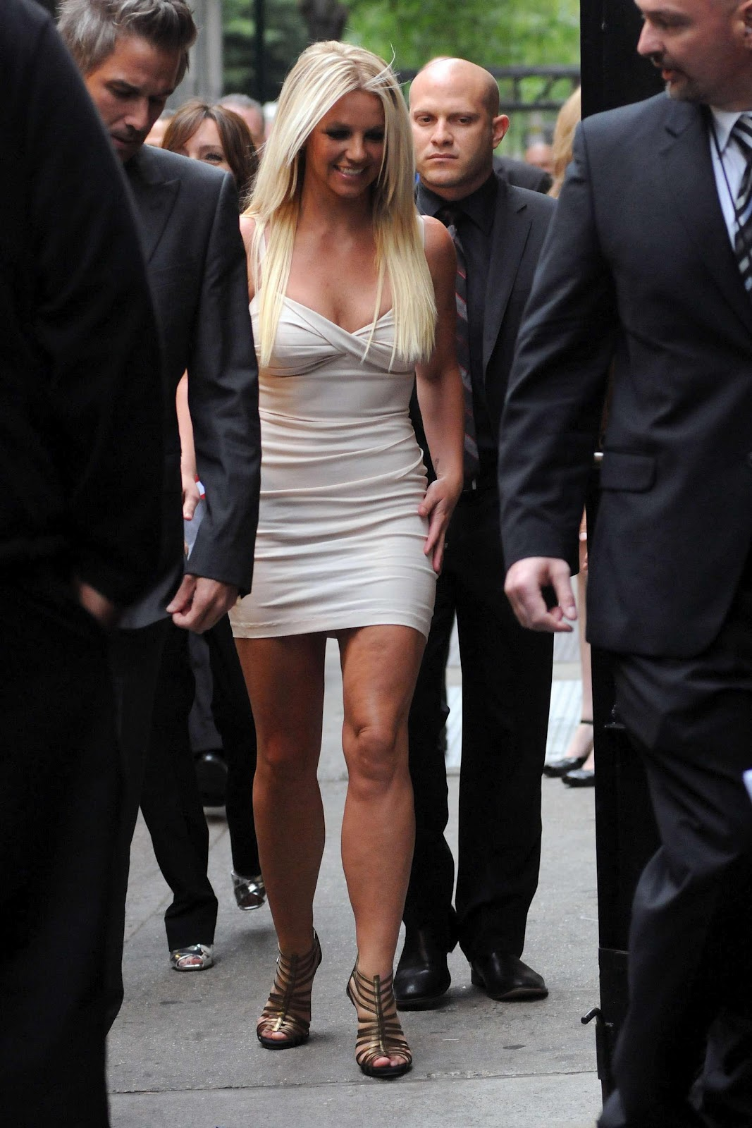 Britney spears looking very very hot in white dress