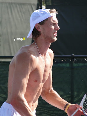 Andreas Seppi Shirtless at Miami Open 2011
