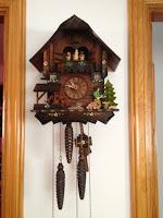 cuco, reloj antiguo, reloj de pájaro