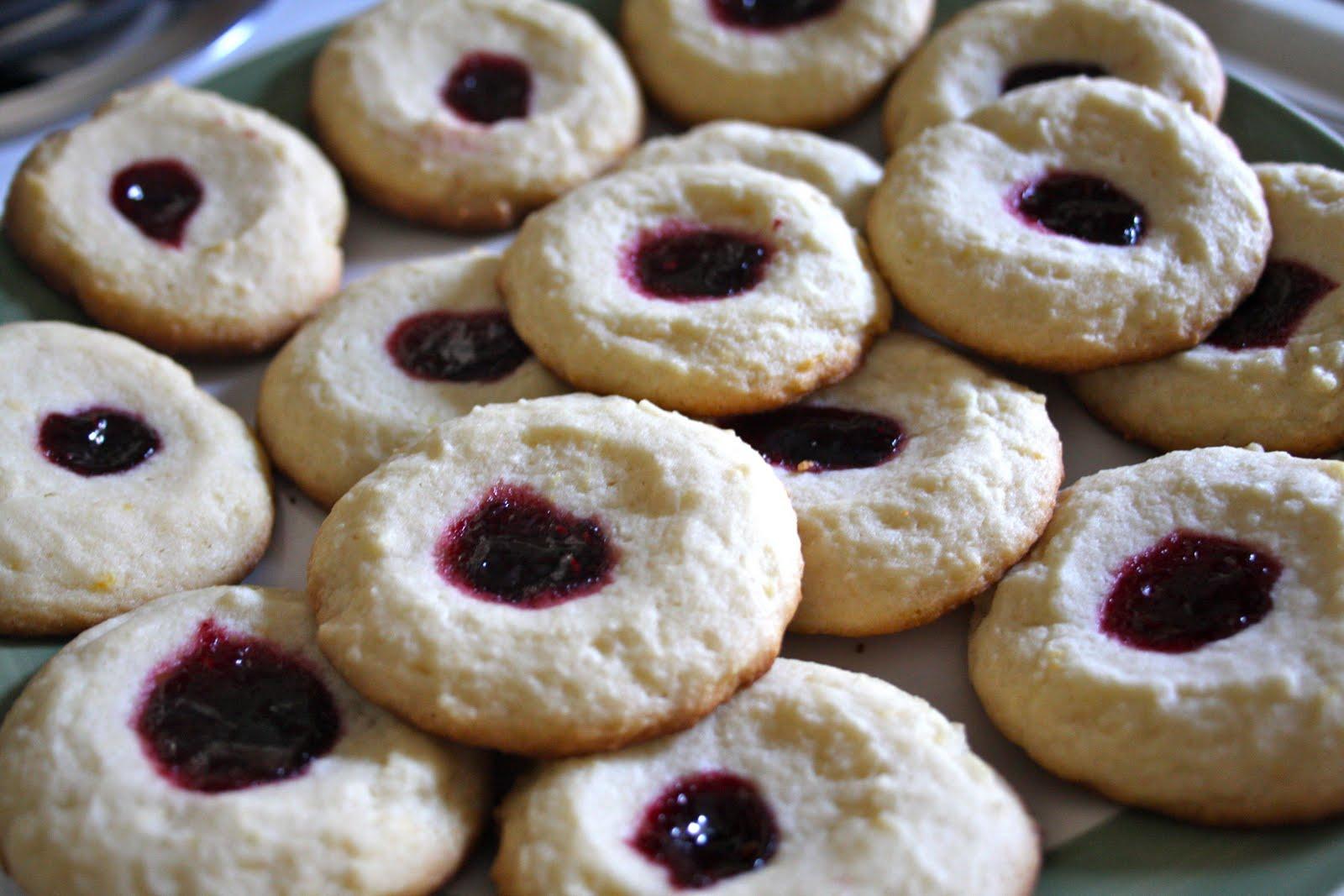 per amore.: Lemon Raspberry Thumbprint Cookies