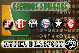 Baixar Escudos Spheres do Brasileirão para Brasfoot 2012, Download de escudos spheres do campeonato para brasfoot 2012, escudos spheres grátis