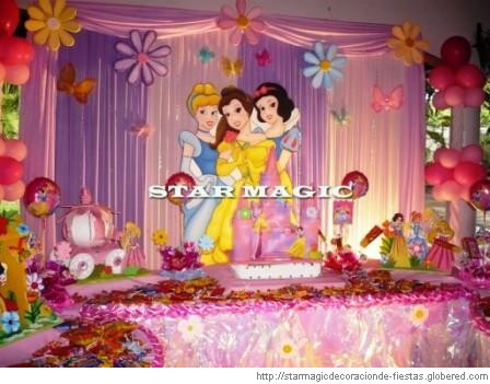 Children parties princess decoration - Decoracion cumpleanos princesas ...