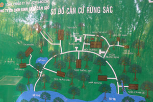 Map of Rừng Sác guerilla base