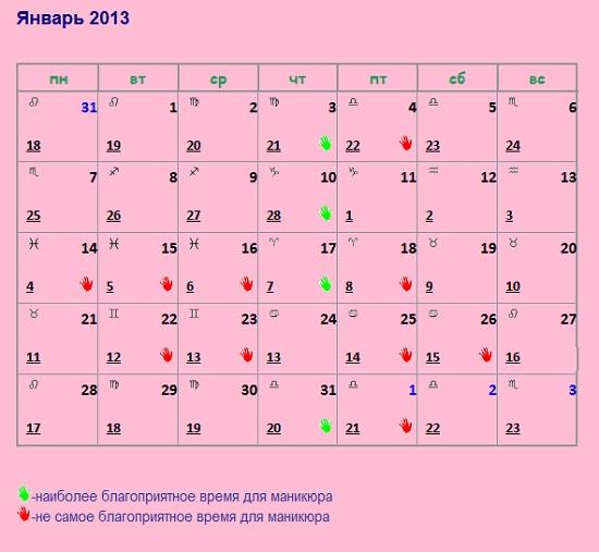 Лунный календарь для маникюра на декабрь 2015