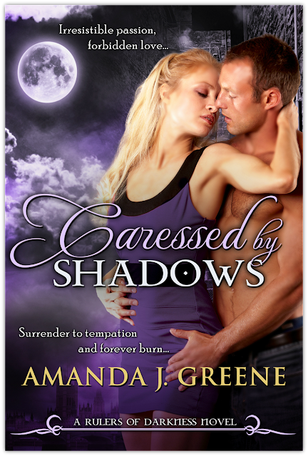 Cover Reveal + Book Trailer: Caressed by Shadows by Amanda J. Greene