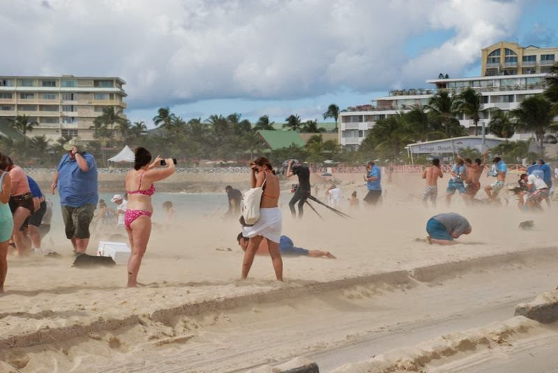 """Maho Beach Resort many was referred to as """"the world's best place to watch the planes."""""""
