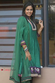 Chandini Picture Gallery in Green Salwar Kameez at Kali Charan Movie Audio Launch  0026.jpg