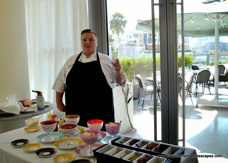 the chef making a knickerbocker glory