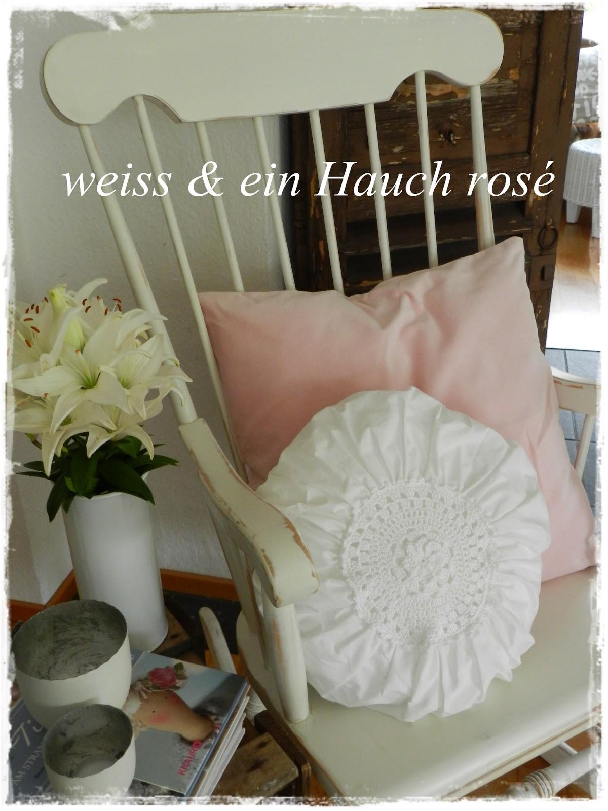 Wei ein hauch ros schaukelstuhl tilda tasche for Schaukelstuhl rosa