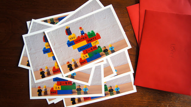 Emma Wrote The Details Of Party On Lego Blocks Built A Tower Photographed It And Yippee Its Youre Invited