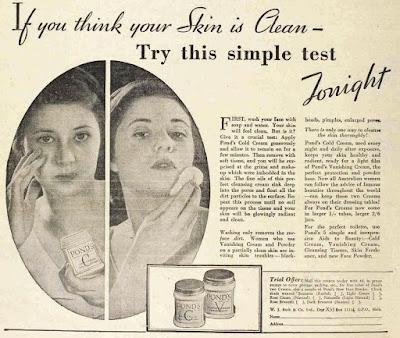 vintage 30s ad for Ponds