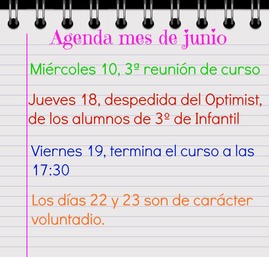 Agenda de junio
