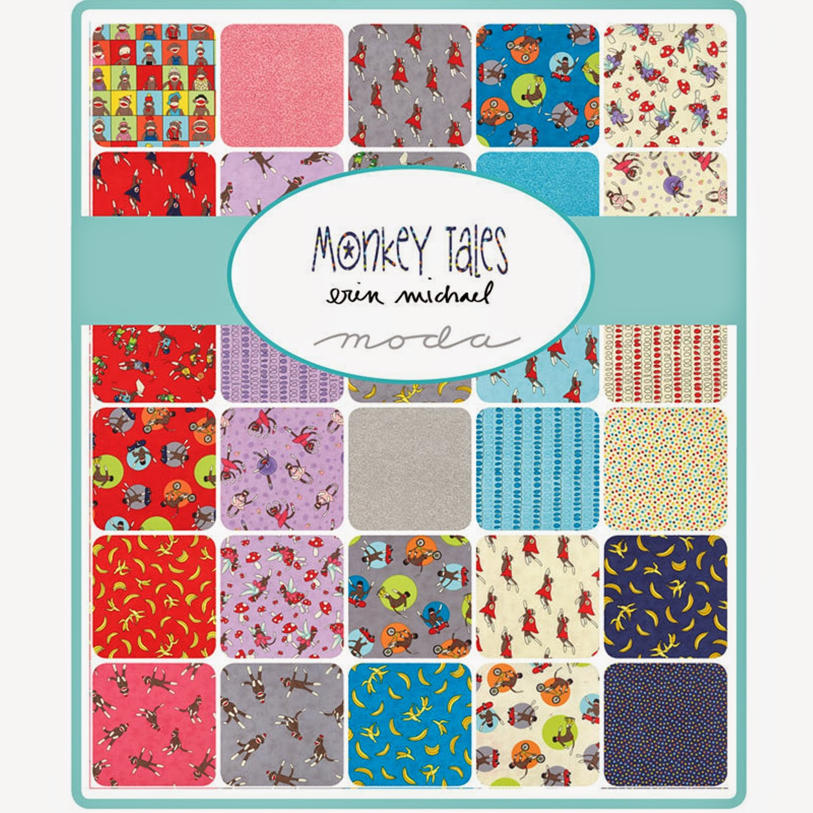 Moda MONKEY TALES Quilt Fabric by Erin Michael for Moda Fabrics