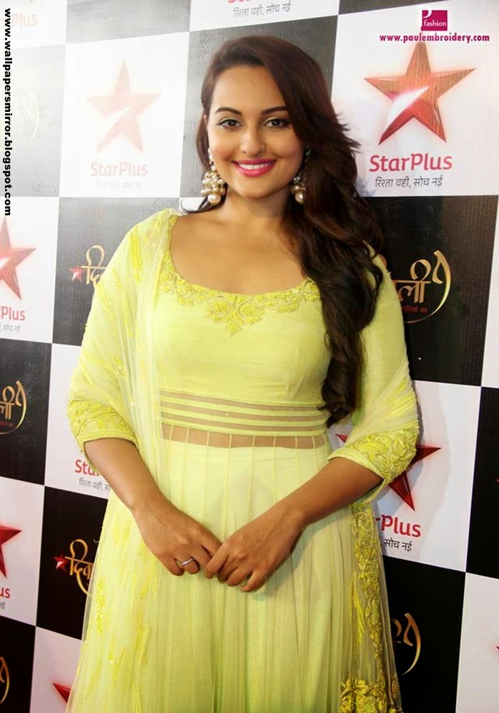 Sonakshi Sinha in Yellow Top HD wallpapers