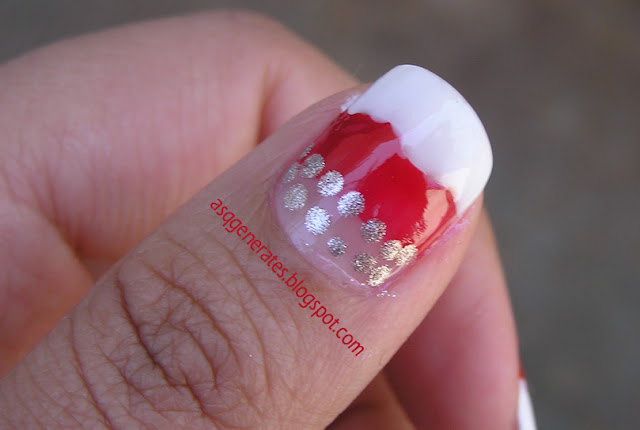 VALENTINE NAIL ART :♥JELLY POPS ♥ close up on the thumb