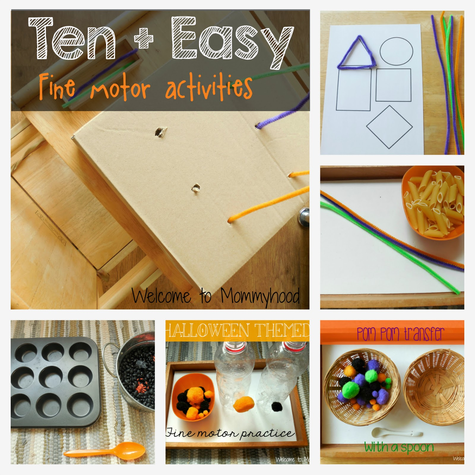 Fine motor activities for preschoolers (and toddlers) by Welcome to Mommyhood #Montessori #FineMotorActivitiesforPreschoolers #Totschool