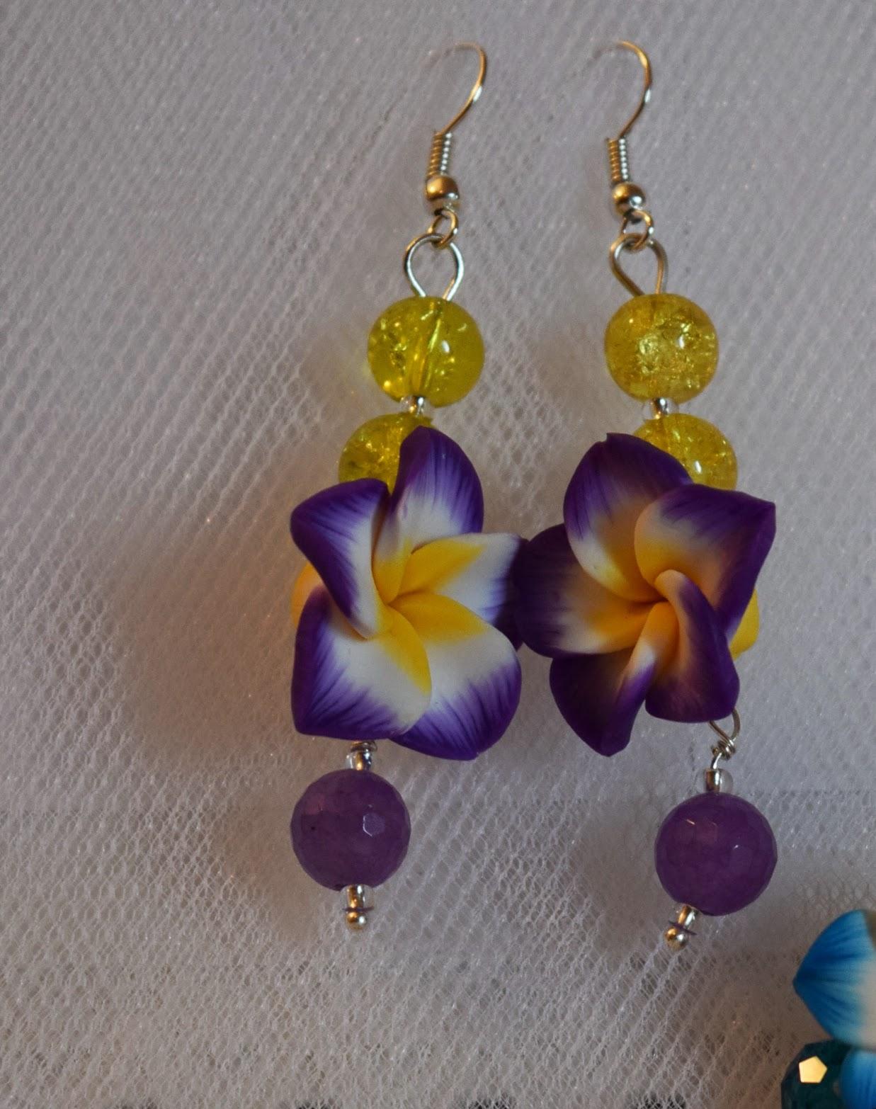 Orecchini fiore viola