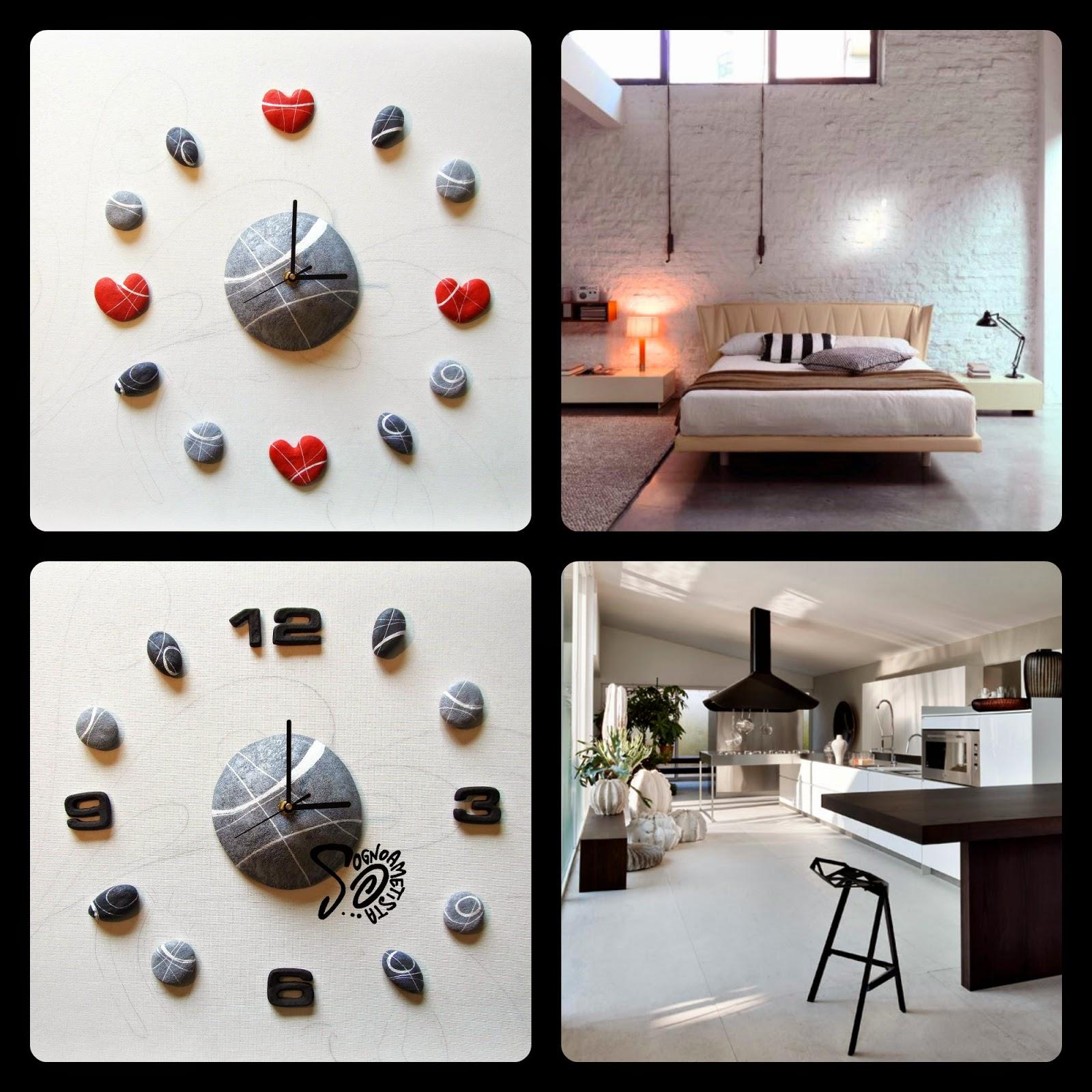Sognoametista orologi adesivi da parete natura e design - Orologi componibili da parete ...