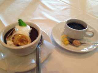Todd Jurich's Bistro dish: Dark Chocolate Pot de Crème and Espresso
