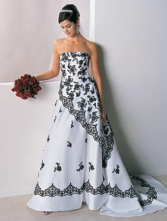 SHE FASHION CLUB: Black White And Red Wedding Dresses