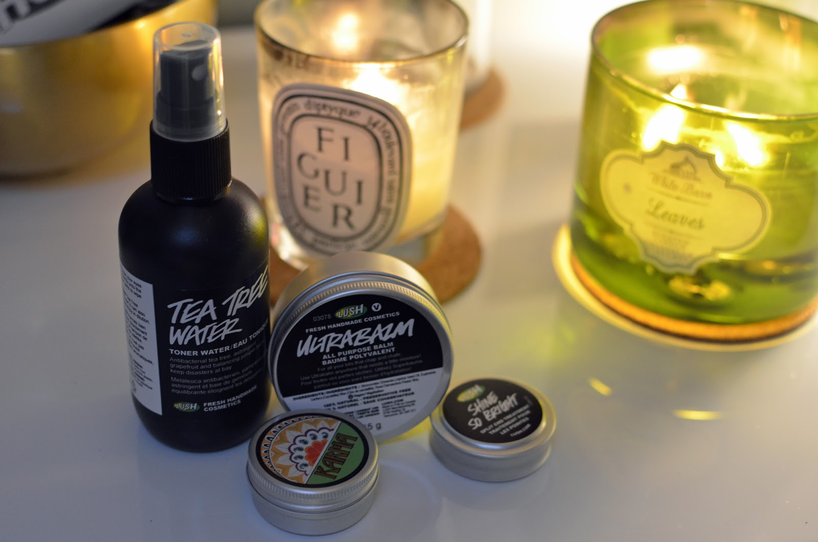 LUSH haul ft. Ultrabalm, Tea Tree Water, Shine So Bright, and Karma Solid Perfume