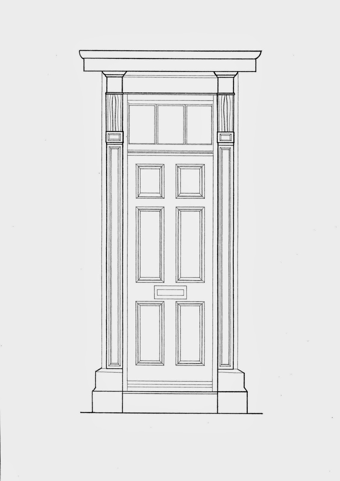 Simple door drawing - Drawings And Paintings Architecture Portfolio Ba Hons Front Door Pencil