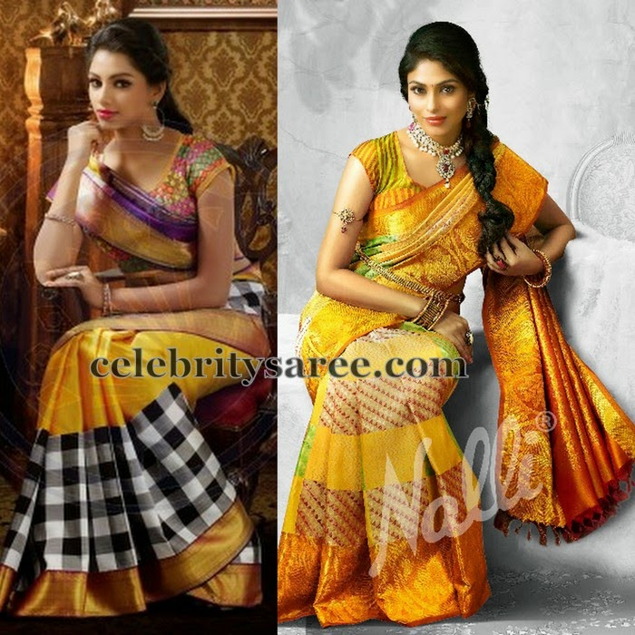 Traditional Sarees in Mustard