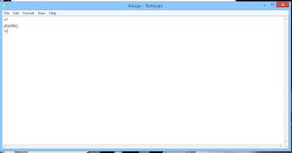 Membuat Kode PHP di Notepad
