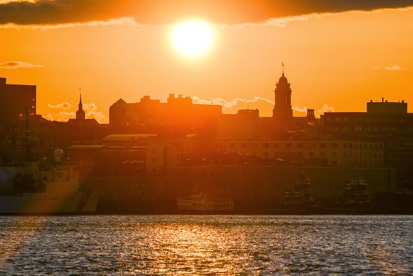 Portland, Maine City Sunset Skyline photo by Corey Templeton April 2014