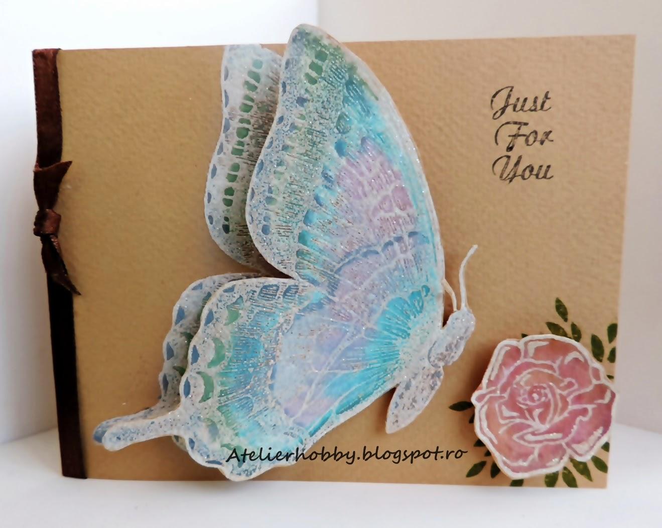 handmade felicitari fluturi