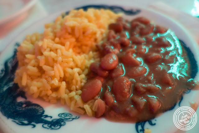 image of rice and beans at El Maguey Y La Tuna on the Lower East Side, NYC, New York