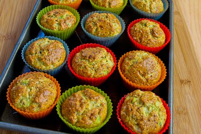 baked muffins for Flourless Egg and Cottage Cheese Savory Breakfast Muffin Recipe found on KalynsKitchen.com